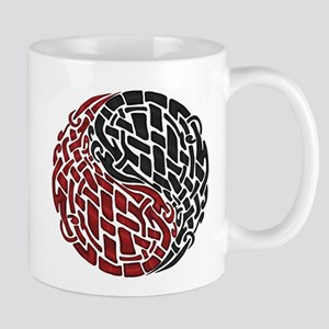Celtic Knotwork Yin Yang Single Motif Mug